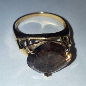 14 Karat Rhodolite Garnet Ring